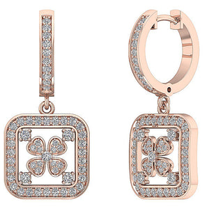 Natural Diamond 14k Gold Antique Earring Set