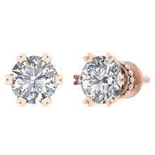 Load image into Gallery viewer, Natural Diamond Earring Set 14k Rose Gold