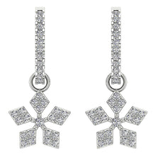 Load image into Gallery viewer, 14k Gold Natural Diamond Unique Earring Set