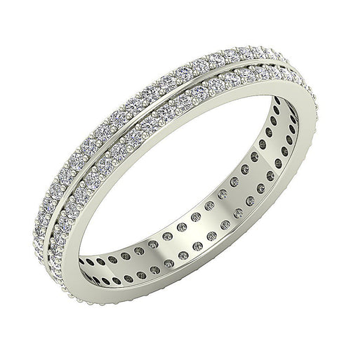 14k Solid Gold Round Diamond Eternity Ring