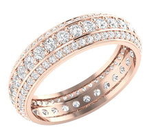 Load image into Gallery viewer, Natural Diamond Eternity Ring 14k Gold
