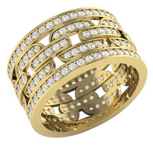 Load image into Gallery viewer, Round Diamond Eternity Ring 14k Yellow Gold