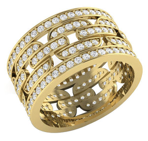 Round Diamond Eternity Ring 14k Yellow Gold
