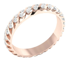 Load image into Gallery viewer, 14k Rose Gold Round Diamond Eternity Ring