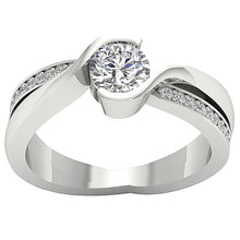 Load image into Gallery viewer, 14k Solid Gold Solitaire Anniversary Ring I1 G 1.00 Carat Natural Round Cut Diamond
