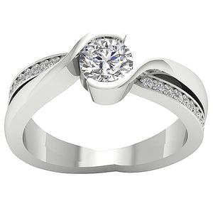 14k Solid Gold Solitaire Anniversary Ring I1 G 1.00 Carat Natural Round Cut Diamond