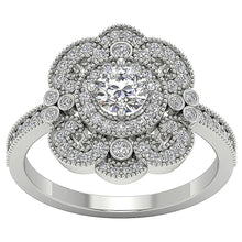 Load image into Gallery viewer, Filigree Vintage Designer Engagement Ring 14k Gold SI1 G 1.20 Carat Natural Round Diamond