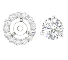 Load image into Gallery viewer, Round Diamond Halo Studs 14k-18k Gold Earring-E-708-6