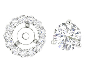 Round Diamond Halo Studs 14k-18k Gold Earring-E-708-6