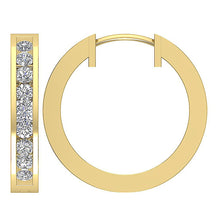 Load image into Gallery viewer, 14k Yellow Gold Inside Outside Earring Set