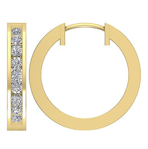 14k Yellow Gold Inside Outside Earring Set