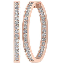 Load image into Gallery viewer, 14k Rose Gold Inside Outside Earring Set