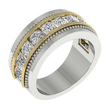 Load image into Gallery viewer, Two-Tone Gold(White+Yellow) Ring-MR-89-2.00Ct