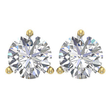 Load image into Gallery viewer, Solitaire Studs Earrings Martini Prong Setting  DST95-1.50