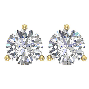 Solitaire Studs Earrings Martini Prong Setting  DST95-1.50