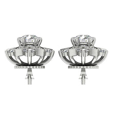 Load image into Gallery viewer, 14k White Gold Round Diamond Earring Set