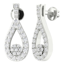 Load image into Gallery viewer, 14k Gold Genuine Diamond Earring Set