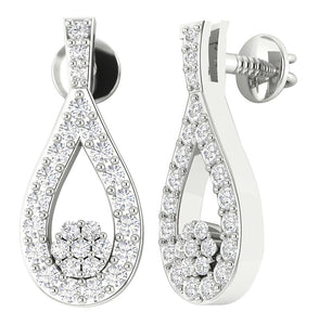 14k Gold Genuine Diamond Earring Set