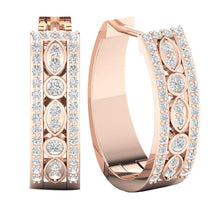 Load image into Gallery viewer, 14k Rose Gold Genuine Diamond Earring Set