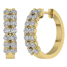 Load image into Gallery viewer, 14k Solid Gold Genuine Diamond Earring Set
