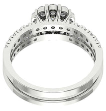 Load image into Gallery viewer, 14k White Gold Unique Style Bridal Ring Set