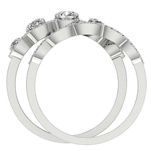 Load image into Gallery viewer, Front View Genuine Diamond Bridal Ring Set