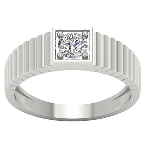 14k White Gold Ring-MR-78