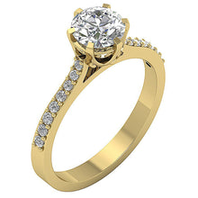 Load image into Gallery viewer, Natural Diamond Ring 14k Yellow Gold-DSR472