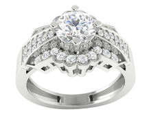 Load image into Gallery viewer, 14K Gold Solitaire Round Cut Diamond Engagement Ring I1 G 1.30 Carat