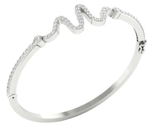 Load image into Gallery viewer, Cross View 14k White Gold Bangles-DBR20
