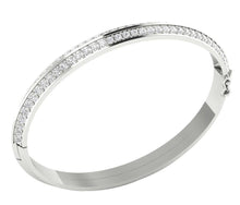Load image into Gallery viewer, Diamond Bangles SI1/I1 G 2.85Ct Natural Diamonds 14k White Yellow Rose Gold