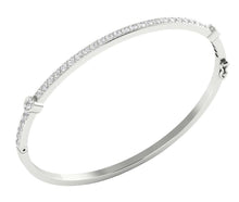Load image into Gallery viewer, White Gold Cross View Bangles-DBR25