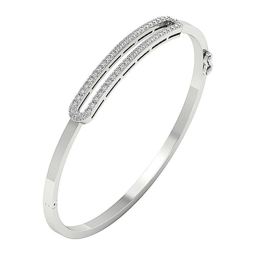 Diamond Bangles 14k White Yellow Rose Gold SI1/I1 G 1.00Ct Natural Diamonds