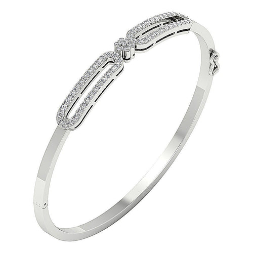 Diamond Bangles SI1/I1 G 1.00Ct Natural Diamonds 14k White Yellow Rose Gold
