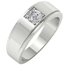 Load image into Gallery viewer, White Gold Solitaire Ring-DMR3