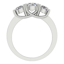 Load image into Gallery viewer, 14K Gold Genuine Diamond Ring Front View-TR-102-5