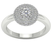 Load image into Gallery viewer, Natural Round Cut Diamond 14K White Gold-DSR221