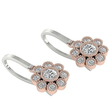 Load image into Gallery viewer, Width 7.90MM White+Rose Gold Earrings-DE108