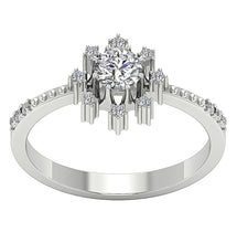 Load image into Gallery viewer, Natural Round Diamond Ring White Gold-DSR646