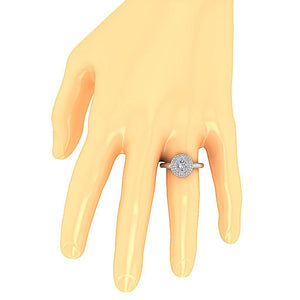 On Hand Solitaire Engagement Ring-DSR221