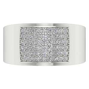 White Gold Ring Pave Setting-MR-19