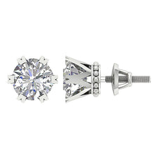 Load image into Gallery viewer, Earring Set 14k White Gold Prong Setting
