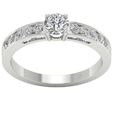 Load image into Gallery viewer, Prong Set 14K White Gold Natural Round Diamond Ring-DSR62