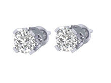 Load image into Gallery viewer, Solitaire Studs Earring 4 Prong Set-DST1-0.40-5