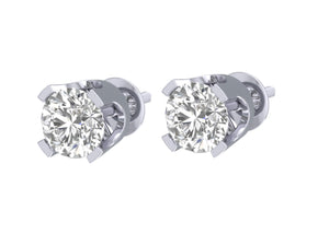 Solitaire Studs Earring 4 Prong Set-DST1-0.40-5