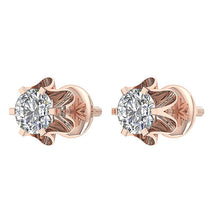Load image into Gallery viewer, Rose Gold Designer Studs Earrings-DE191
