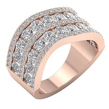 Load image into Gallery viewer, FashionDiamondRoseGoldRing14K-WR-527