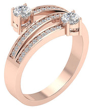 Load image into Gallery viewer, AnniversaryRoseGold14KRing-DSR687