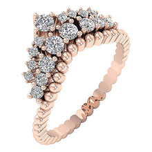 Load image into Gallery viewer, WeddingRoseGold14KDiamondRing-WR-549