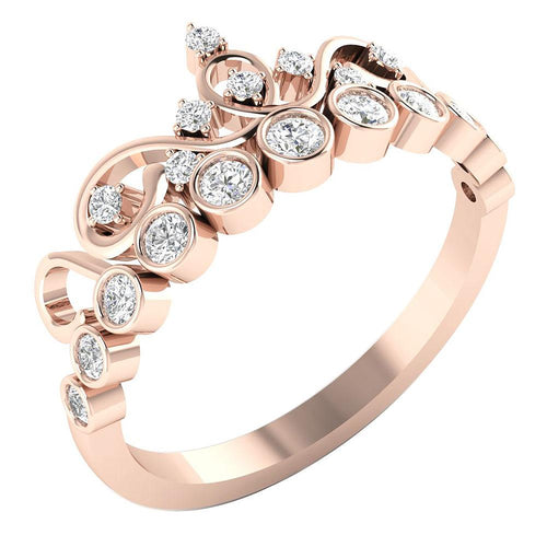 14KWeddingRoseGoldFashionRing-WR-449